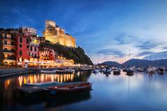 Hafen von Lerici (wiwenir) Tags: 2017 italien ligurien lerici hafen blauestunde boote zonesystemexpress paletteeffects photoraw
