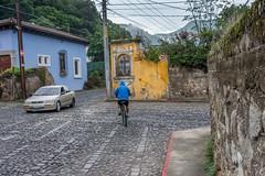 beautiful but dangerous intersection (Pejasar) Tags: escuelaintegrada guatemala antigua dangerous intersection traffic corner wall cobblestone