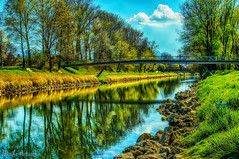 one day by the river (MarLo-Artwork) Tags: river a37 alpha bayern bavaria color different fluss germany green himmel interesting landscape landschaft natural natur sony reflektionen tageslicht bäume trees wolken clouds