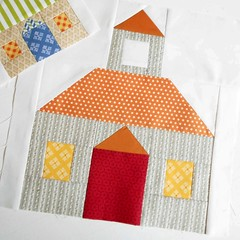 "12"" Schoolhouse Quilt Block (The Patchsmith) Tags: patchsmith quilt block quiltblock mugrug patchsmithpatterns patchwork applique"