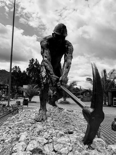 Monumento a los Mineros, El Parque de la Sal, Zipaquirá, Colômbia.