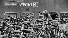 green mobility (micagoto) Tags: freiburg db regio dbregio bahn zug bahnhof fahrräder bicycles grün green öko umstieg umsteigen co2 rb parking parkplatz intermodal intermodalität mobilität mobilty