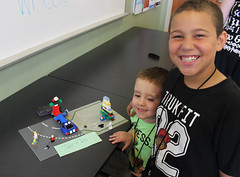 Jake and Tay (ACPL) Tags: acpl fortwaynein allencountypubliclibrary georgetown geo legoclub thingswithwheels 2017