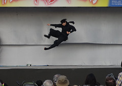Ninja 忍者 (Shutter Chimp: Im back!) Tags: 忍者 忍 日本 東京 上野公園 上野 ジャンプ キック japan tokyo ninja jump kick martial arts stage ueno park ステージ