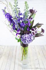 IMG_2569-3 (Garden Party Flowers) Tags: calla delphinium florist flowers hydrangeas purple structural tallstyle vancouver