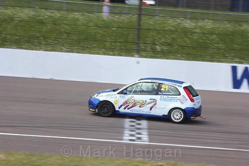Jack Davidson in the Fiesta Junior championship at Rockingham, June 2017