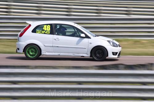 Jamie Going in the Fiesta championship Class C at Rockingham, June 2017