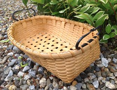 Oval Breadbasket Wrought Iron (Nutmegbasketry) Tags: breadbasket ovalbasket wroughtiron ctmakers basket handwoven newenglandmade
