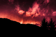 #sunset #burn #sky #clouds #hills #trees #forest #nature #croatia (dario0806) Tags: burn nature clouds sky croatia sunset forest trees hills