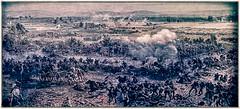 Gettysburg (Wes Iversen) Tags: battleofgettysburg civilwar gettysburg hss sliderssunday tokina1116mmf28 battles canons cyclorama frames grain men people texture vintage war weapons gettysburgcyclorama