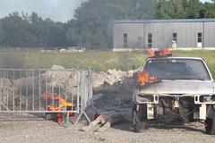 Ãbungsannahme Fahrzeugbrand bei Tankstelle