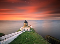 Clifftop Guardian (Stu Patterson) Tags: stu patterson sunset st abbs head lighthouse scottish borders