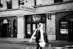 ghosts among us (bluechameleon) Tags: sharonwish architecture blackandwhite bluechameleonphotography blur brick bw canada chinatown city gastown ghost man motionblur signage street streetphotography urban