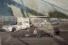 Peterborough Speedway (KevinCollins00) Tags: 35mmfilm c41 konicavxsuper200 nikonf3hp peterboroughspeedway expired film tripleexposure