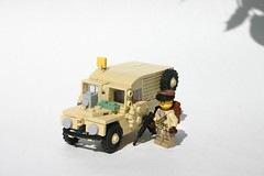 Military Land Rover (ModernBrix) Tags: truck vehicle lego build custom moc modernbrix modern future brickarms land rover british