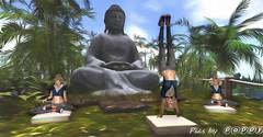 Meditation with Buddha (Poppys_Second_Life) Tags: popi popikone popikonesadventuresin2l popisadventuresin2l 2l secondlife virtualphotography poppy picsbyⓟⓞⓟⓟⓨ sl meditation buddha yoga