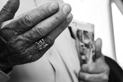 Grandfather's ring (aitorgonzal.es) Tags: human bw black white hand ring old grandfather