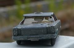 Ford Galaxie HMM (captain_joe) Tags: macromondays broken toy car matchbox lesney diecast spielzeug auto ford galaxie fordgalaxie