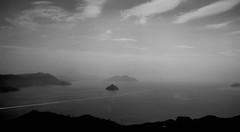 Miyajima Overlook (Wiley C) Tags: summit overlook bay sea miyajima island japan march2017 bw blackwhitephotos