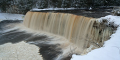 Winter at Upper Tahquamenon Falls, Tahquamenon Falls State Park, Michigan (Daniel Arthur Brown) Tags: december mi michigan tahquamenonfalls tahquamenonfallsstatepark tahquamenonriver up upperpeninsula vacation cold destination freezing ice landscape longexposure nature panorama river travel water waterfall waterfalls winter