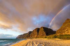 Polihale Beach Kauai (Lace Photos www.lacephotos.com) Tags: hawaii kauai polihale rainbow beach camping mountains cliffs napali coast island tropical sunset