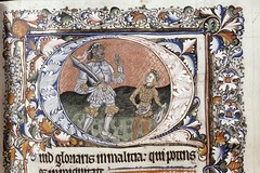 submission via Twitter: David and Goliath (Bodleian MS. Laud Lat. 114). 15C England [mod note] I looked up the manuscript above, and discussed it a bit further with the submitter here. The illumination *looks* very 15th C, but the manuscript itself is cat (medievalpoc) Tags: medieval manuscripts illuminated medievalpoc older versus later academia discussions england 1400s 1200s david goliath two depictions