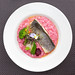 Fish with Vegetables and Rot Beete Risotto