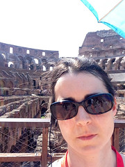 Me inside Colosseum, stadium floor level