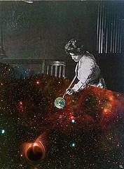 acp (woodcum) Tags: woman cosmic space deepspace earth planet planetearth blackhole color grain vintage retro billiards snooker cue girl collage woodcum surreal