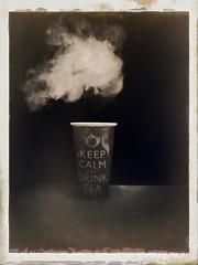 Day 173 Keep calm and drink tea!! (Clare Pickett) Tags: iphone hot smoke mug cup tea