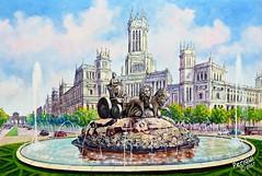 La Cibeles * Madrid (Periqui) Tags: madrid cibeles óleo monumento españa