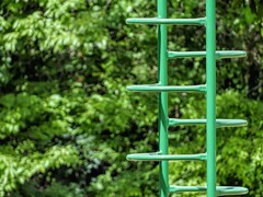 Step Up! (clarkcg photography) Tags: steps metal playground ladder green trees outdoors gorgeousgreenthursday