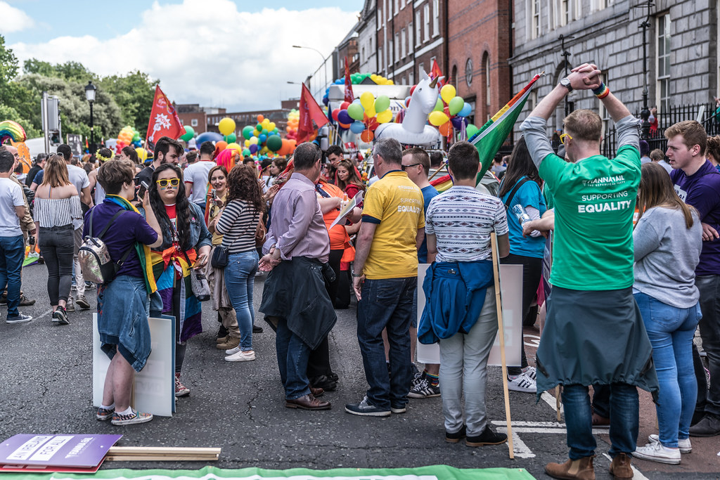 LGBTQ+ PRIDE PARADE 2017 [STEPHENS GREEN BEFORE THE ACTUAL PARADE]-129791