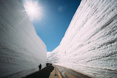 Tateyama's Snow Walls 立山黑部 雪の大谷 (鏡頭裡總有豐收) Tags: japan tateyama toyama snow snowwall 雪之大谷 立山 landscape mountain sky sony a7rii voigtlander ultrawide 15mm