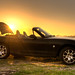 Sunset+behind+a+Mazda+MX-5.