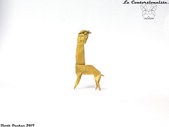 Le Contorsionniste - The contortionist. (Magic Fingaz) Tags: barthdunkan girafe giraffe jerapah jirafa origami žirafa καμηλοπάρδαλη жираф жирафа जिराफ़ ยีราฟ 기린 キリン 长颈鹿