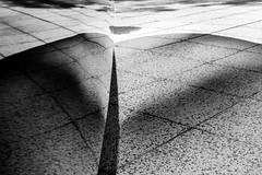 Distorted reflection (rogeriobromfman) Tags: brasil brazil sãopaulo vilaolímpia farialima monolito monolith reflexo reflection blackandwhite bw pretoebranco pb distorção distortion