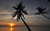 Koh Samui 172 Palm Trees & Sunset (SwissMike62) Tags: thailand kohsamui beach sunset romantic romanticsunset palmtrees sun light clouds sky