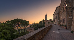 Italy - Pienza in Tuscany (Toon E) Tags: 2017 italy tuscany pienza valdorcia sunset church tower village historic sony 7rm2 zeiss sonyfe1635mmf4 outdoors siena