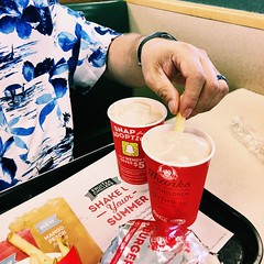 Frosty and Fries = Heaven (LionessLeesha) Tags: food dipping fries frenchfries chocolate frozen dessert frosty wendys