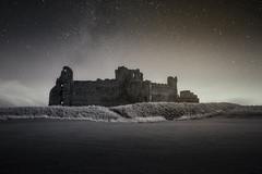 Star-filled Night at Tantallon Castle (Uillihans Dias) Tags: northberwick scotland nikon uk gb castle tantalloncastle stars historical architecture