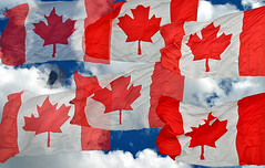 Happy 150th, Canada! (firstlookimages) Tags: canada birthday nationalcelebration flags canadianflag art artistic artisticmanipulation digitalmanipulation digitalart digitalphotography detail