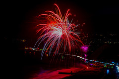 44 (morgan@morgangenser.com) Tags: pacificpalisaddes beach belairbayclub blue celebrate fireworks color iso100 july3rd loud nikon night ocean orange pch people red reflection special spectacular streaks timeexposire tripod yellow amazing