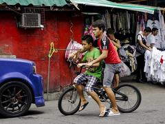 Two to Go (Beegee49) Tags: boys two bicycle color red bacolod city philippines