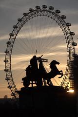 Morning is here! (Angeeeeelaaaaa) Tags: london westminsterbridge londoneye westminster sunset silhouettes