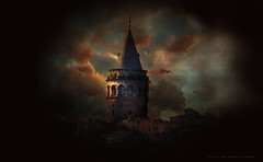 Galata Tower - Beauty of Istanbul (cagdas topcu) Tags: istanbul galatatower galata nikon city clouds dark mysterious beauty beautiful tower nikoncoolpixp900