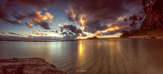 Waimanalo Beach Sunrise Pano 01