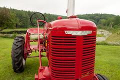 Farmall (DjD-567) Tags: farmall red tractor logo emblem steeringwheel antrim grill