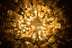Goldilights (jgottlieb) Tags: gold light fixture nashville hyatt regency tn tennessee looking straight up chandelier leica mp typ 240 35mm summilux fle lobby