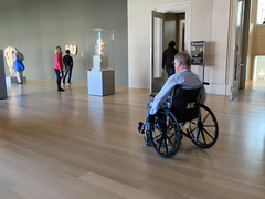 Art Institute of Chicago (Daquella manera) Tags: chicago illinois il art institute wheelchair silla de ruedas gallery exhibit museo museum